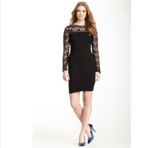 Jessica Simpson NEW Black Lace Yoke Sheath Dress